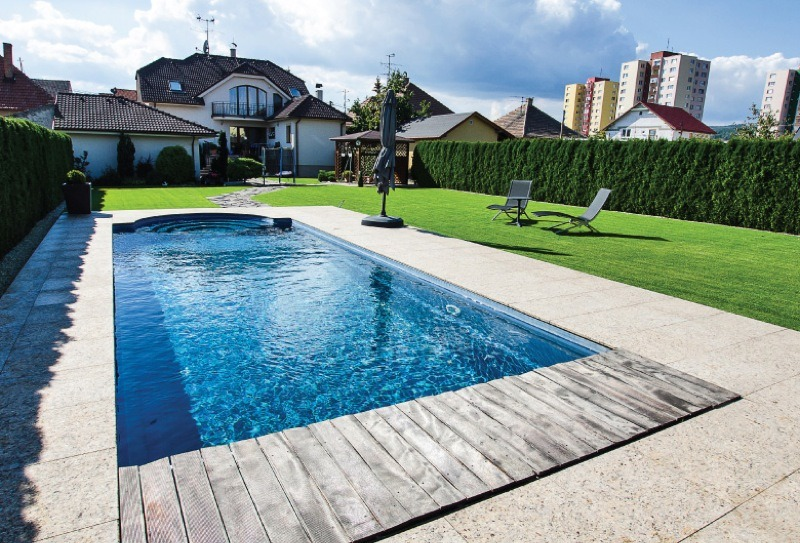 One piece swimming pool design kent one piece pool sizes for Pool design layout