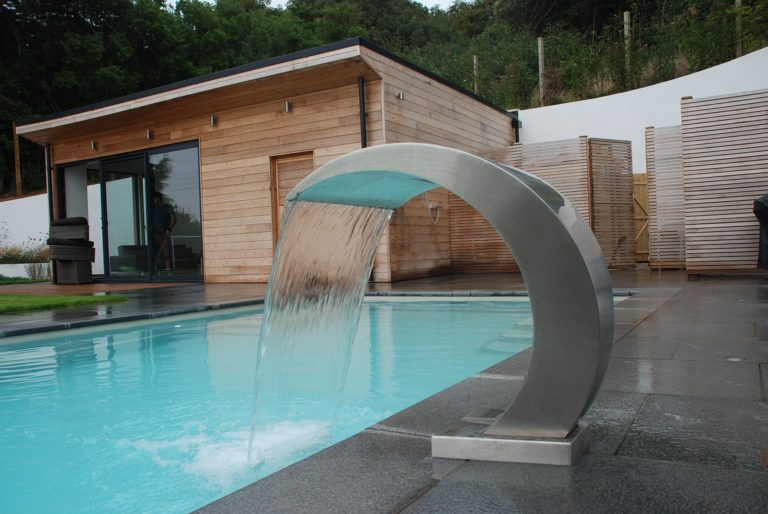 Swimming Pool Water Feature
