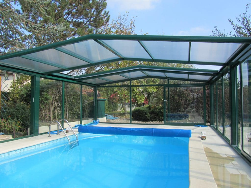 Swimming pool enclosures swimming pool covers heating for Enclosed pools